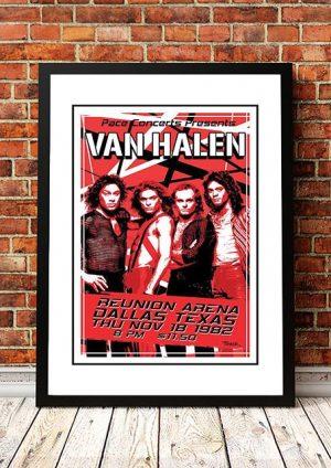 Van Halen 'Union Arena' Texas, USA 1982