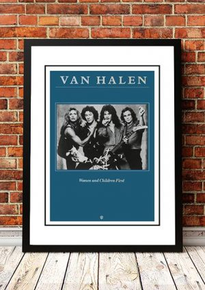 Van Halen 'Women And Children First' In Store Poster 1980
