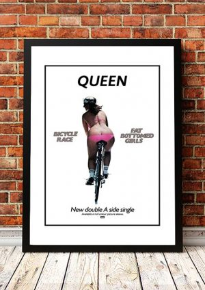 Queen 'Fat Bottom Girls' In Store Poster 1978