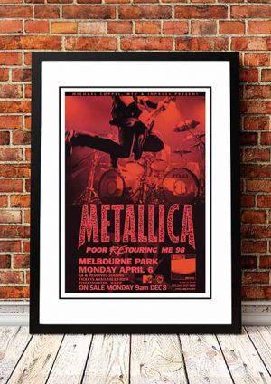 Metallica 'Melbourne Park' Melbourne, Australia 1998