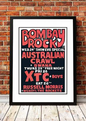 Australian Crawl / XTC 'Bombay Rock' Melbourne, Australia 1980