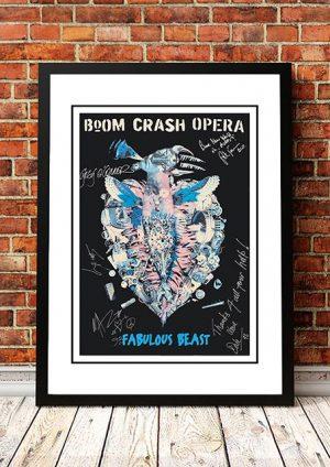 Boom Crash Opera 'Fabulous Beast' In Store Poster 1991