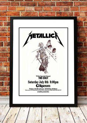 Metallica / The Cult 'Richfield Coliseum' Cleveland, USA 1989