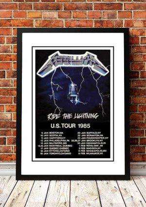 Metallica 'Ride The Lightning' US Tour 1985