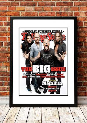 Metallica 'Rolling Stone Magazine' Promo Poster 2012