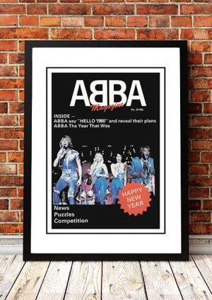 ABBA 'Fan Magazine' Promo Poster 1980