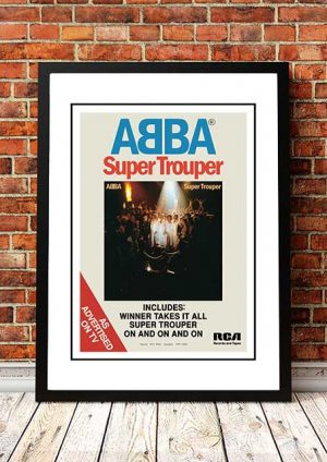 ABBA 'Super Trouper' In Store Poster 1980