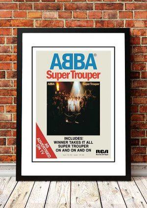 ABBA 'Super Trouper' Magazine Poster 1980