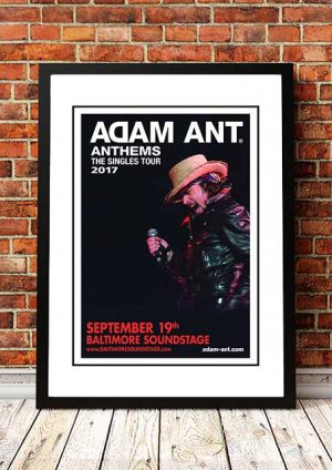 Adam Ant 'Anthems' The Singles Tour 2017