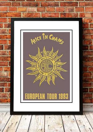 Alice In Chains 'Europe' Tour Poster 1993
