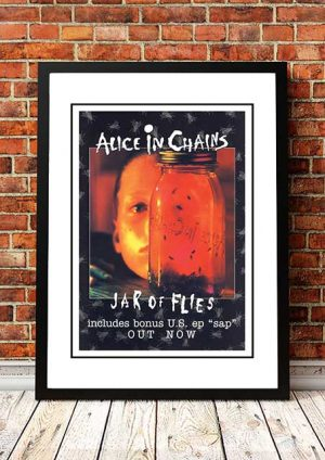 Alice In Chains 'Jar Of Flies' In Store Poster 1994