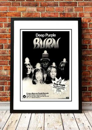 Deep Purple 'Burn' Magazine Advert, UK 1974