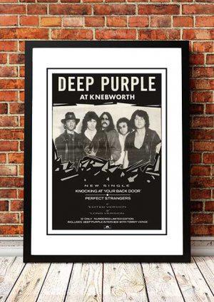 Deep Purple 'Knebworth' Magazine Advert, UK 1985