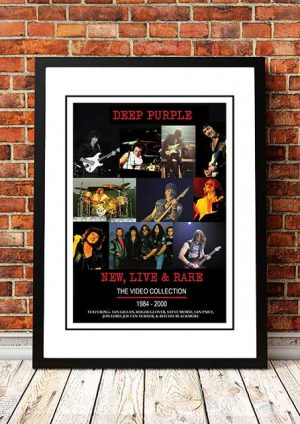 Deep Purple 'New, Live And Rare' In Store Poster 2004