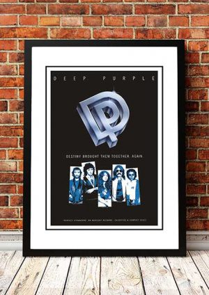 Deep Purple 'Perfect Strangers' In Store Poster 1984