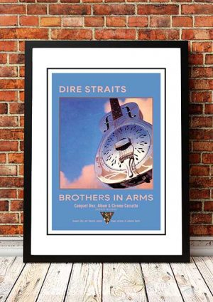 Dire Straits 'Brothers In Arms' In Store Poster 1985