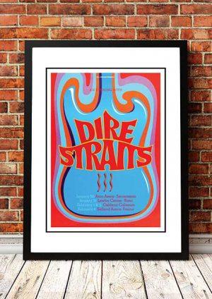 Dire Straits 'California' Tour Poster 1992
