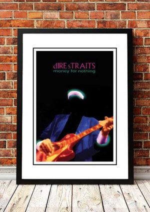 Dire Straits 'Money For Nothing' In Store Poster 1985