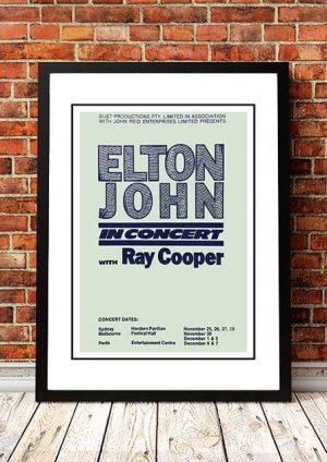 Elton John 'With Ray Cooper' Australian Tour 1974