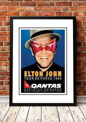 Elton John 'Tour De Force' Australian Tour 1986