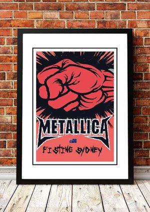 Metallica 'Fisting Sydney' DVD Cover 2004