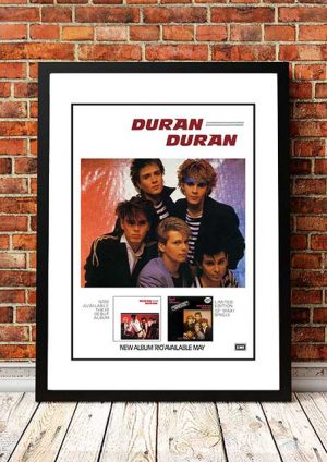 Duran Duran 'Rio' In Store Poster 1982