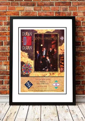 Duran Duran 'Seven And The Ragged Tiger' In Store Poster 1983
