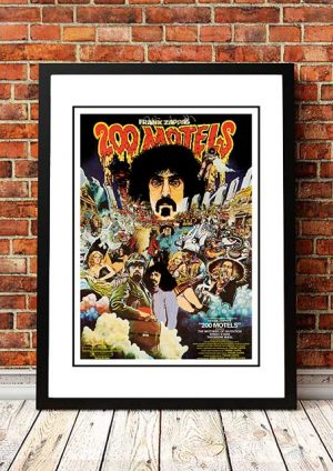 Frank Zappa '200 Motels' Movie Poster 1971