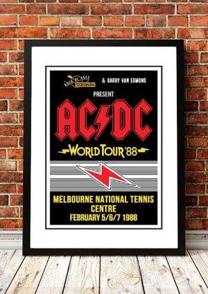 AC/DC 'Melbourne Tennis Centre' Melbourne, Australia 1988