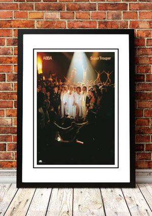 ABBA 'Super Trouper' In Store Poster 1980