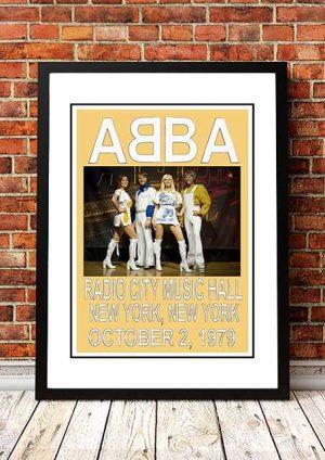 ABBA 'Radio City Music Hall' New York, USA 1979