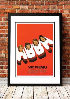 ABBA 'The Movie' Movie Poster 1977 (Sweden)