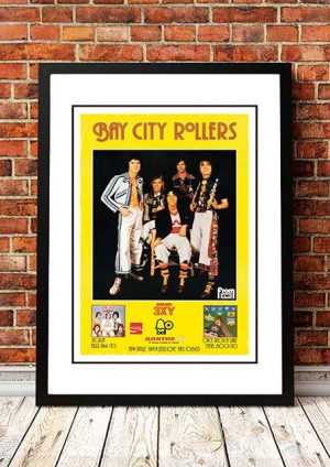 Bay City Rollers 'Give A Little Love' In Store Poster 1975