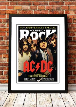 AC/DC 'Classic Rock Magazine' In Store Poster 2013