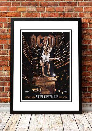 AC/DC 'Stiff Upper Lip' In Store Poster 2000