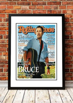 Bruce Springsteen 'Rolling Stone Magazine' In Store Poster 2002