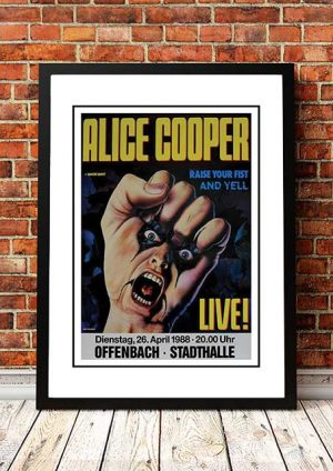 Alice Cooper 'Offenbach Stadthalle' Germany 1988