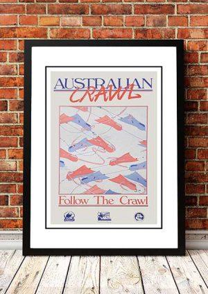 Australian Crawl 'Follow The Crawl' Promo Poster 1981