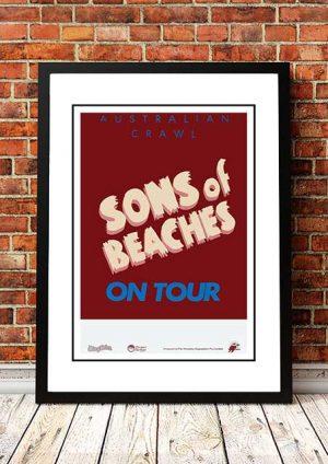 Australian Crawl 'Sons And Beaches' Tour Poster 1982
