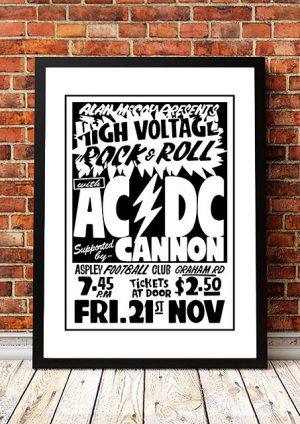 AC/DC 'Aspley Football Club' Brisbane, Australia 1975