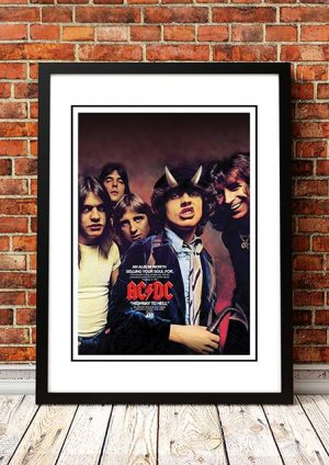 AC/DC 'Highway To Hell' USA In Store Poster 1979