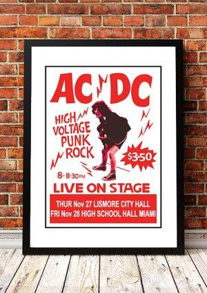 AC/DC 'High Voltage' Lismore/Miami, Australia 1975