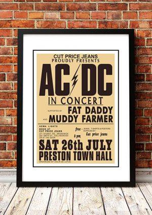 AC/DC 'Preston Town Hall' Melbourne, Australia 1975