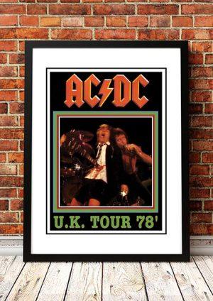 AC/DC 'UK Tour' Poster 1978