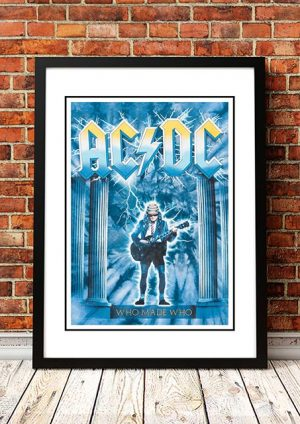 AC/DC 'Who Made Who' In Store Poster 1986