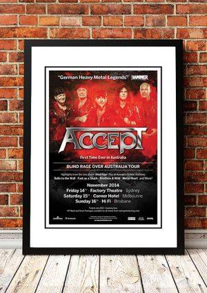 Accept 'Australian Tour' 2014