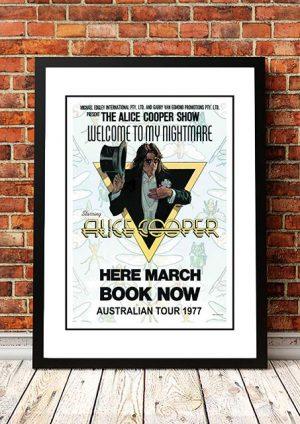 Alice Cooper 'Welcome To My Nightmare' Australian Tour 1977