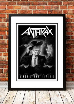 Anthrax 'Among The Living' In Store Poster 1987
