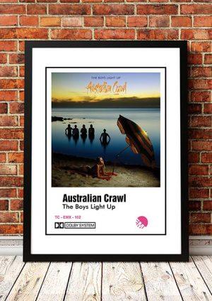 Australian Crawl 'Boys Light Up' Cassette Cover Poster 1980