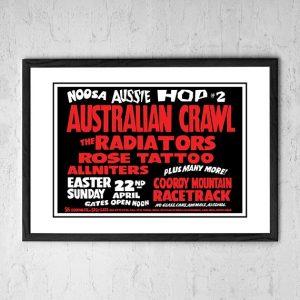 Australian Crawl / The Radiators / Rose Tattoo 'Noosa Aussie Hop' Noosa Heads, Australia 1984